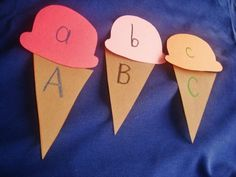 Ice Cream Letter and Number Recognition #kids #activty