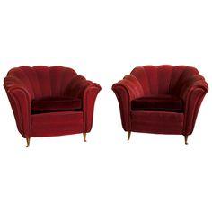 Pair of Art Deco Italian Club Chairs