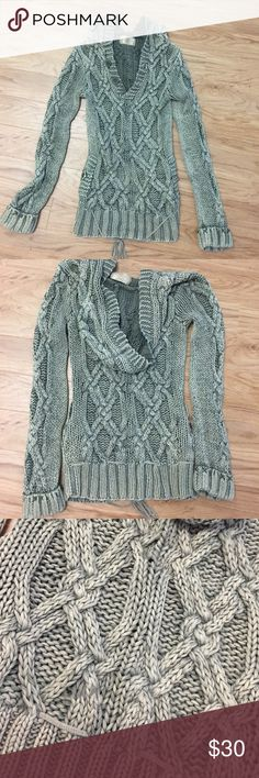 Buffalo Thick cable knit sweater in light olive Buffalo by David Bitton Thick cable knit sweater in light olive green, size medium but snug fit, very warm Buffalo David Bitton Sweaters