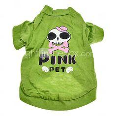 Belle Skull Modello T-shirt in cotone per cani (XS-L)