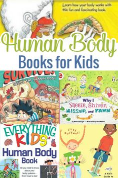 Human Body Lesson, Human Body Unit, Human Body Activities, Science Activities, Science Crafts, Science Experiments, Toddler Activities, Nonfiction Books For Kids, The Body Book