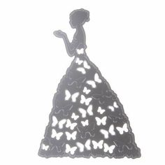 Craft-House 'Elegant Butterfly Lady' Cutting Craft Die For card-making and scrapbooking craft projects. New Crafts, Decor Crafts, Home Crafts, Sewing Crafts, Scrapbooking, Scrapbook Albums, Scrapbook Cards, Craft Free, Flower Quotes