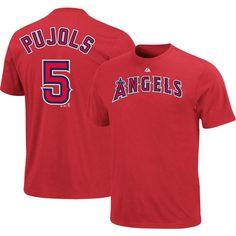NWT Albert Pujols Tee #5 Los Angeles Angels of Anaheim XXL Majestic Wordmark MLB #Majestic #LosAngelesAngels