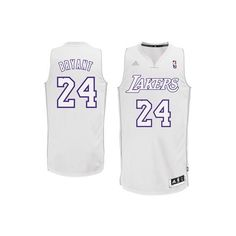 adidas Kobe Bryant Los Angeles Lakers Winter Court Swingman Jersey... ($90) ❤ liked on Polyvore