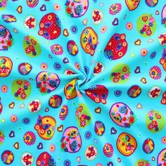 Baumwoll Stretch Jersey  Bugs & Butterflies  Farbe Türkis-Blau (gibt's auch in pink!)