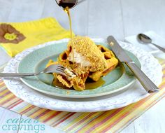 Chicken 'n Waffles (Crispy Cornflake Chicken 'n Sweet Potato-Almond Waffles)