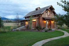 Ennis, Montana Sports Barn - rustic - Exterior - Other Metro - Carter Kay Interiors