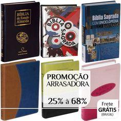 Bíblias ARC, ACF, NVI, RA, NTLH em Promoção Arrasadora! 25% à 68%