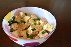 Shoyu marinated tofu