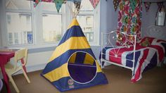 Indoor / Outdoor Children's Stripy Teepee / Play by THEMOHICAN