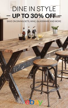 Dine in Style save up to 30% off dining sets, glassware, wine and more.