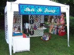 Craft show booth.....or art display tent. ;)