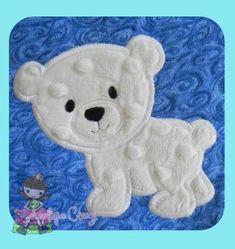 Polar Bear Applique design by AppliqueCrazy on Etsy