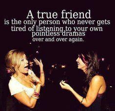 A true friend.. @Rachel Keese
