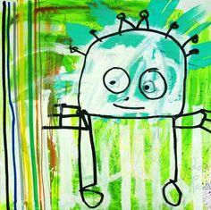 Green men Visual Memory, Green Man, Scandinavian, Activities, Canvas, My Love, Artist, Painting, Design