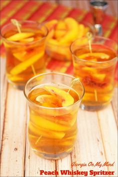 spritzer cocktail for hot summer days? Try my Georgia On My Mind Peach ...