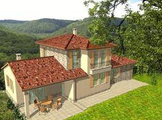 Mediterrán családi ház mediterrán cseréppel