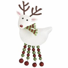 Reindeer Ornament - could be done with felt and beads