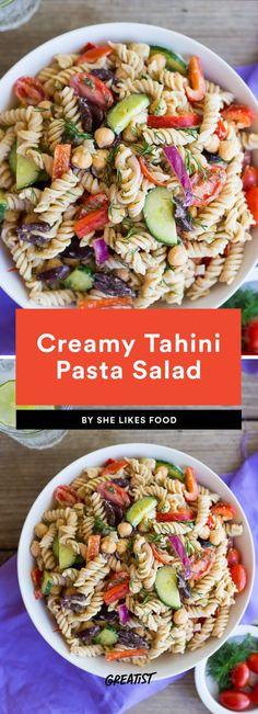 Creamy Tahini Pasta Salad