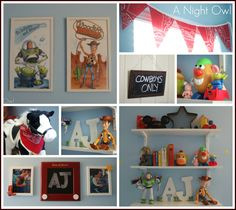 Toy Story Themed Kids Room for Leon ! Toy Story Bedroom, Toy Story Nursery, Toy Story Theme, Toy Story Party, Toy Story Birthday, Pixar Nursery, Disney Nursery, Big Boy Bedrooms, Kids Bedroom