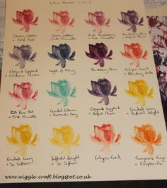 Stampin' Up! Lotus Blossom Colour combinations in 1-2-3 stamp order