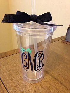 Custom Monogram Cup
