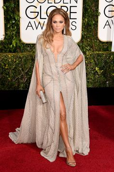 Jennifer's cape dress is perfection.