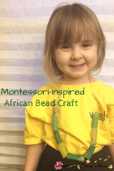 African Bead Craft: Montessori-Inspired Cultural Appreciation ⋆ Sugar, Spice and Glitter Montessori-Inspired African Bead Craft African Theme, African Art, Around The World Theme, Fine Motor Activities For Kids, African Culture, African History, African Crafts, Montessori Activities, African Beads