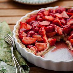 French Strawberry Hazelnut and Creme Patissiere Tart