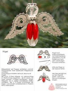 Angel with bobbin lace wings Christmas Angels, Christmas Ornaments, Bruges Lace, Bobbin Lacemaking, Bobbin Lace Patterns, Lace Heart, Lace Jewelry, Arte Popular, Irish Lace