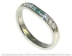 Denise's platinum and heat treated diamond fitted eternity ring.