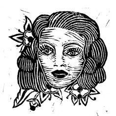 Marie Pierre Brunel  linogravure