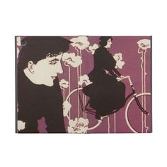 Woman Art Nouveau Victor Bicycles Bike Decorative Cover For iPad Mini