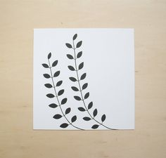 Modern Minimal Plant Drawing in Black and White | Leslie Snipes