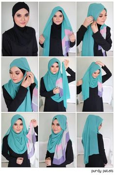 Beautiful Hijab Tutorial For The Round Face Beautiful Hijab Tutorial For The Ro. - Beautiful Hijab Tutorial For The Round Face Beautiful Hijab Tutorial For The Round Face Hijab Chic, Hijab Musulman, Beau Hijab, Hijab Mode, Stylish Hijab, Modern Hijab, Muslim Hijab, Hijab Outfit, Square Hijab Tutorial