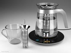 Creative Tea Kettles: TEA-Off! tea Kettle, Tea Sleeve, Tea2Go, Pyrex Glass Induction