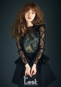 SECRET Sunhwa See-Thru Black Mini Dress