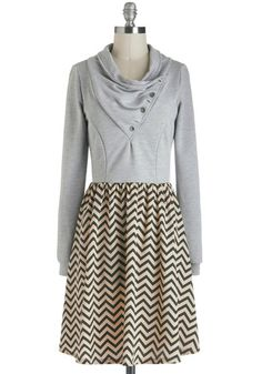 Cute dress for winter. Especially with boots.
