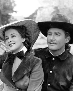 Errol Flynn and Olivia De Havilland made eight films together. Seen here in - They Died With Their Boots On [1941] George Armstrong Custer and Elizabeth 'Libby' Bacon Custer.