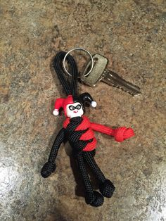 Fait à la main Panda Paracord Buddy Keyfob keyring