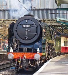 /by lifeboat1721 #flickr #steam #engine #Britannia Flying Scotsman, Ray Ray, Steam Railway, British Rail, Steam Engine, Steam Locomotive, Forests, Duke, Brother