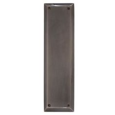"""Brass Accents Quaker Push Plate in Antique Nickel 