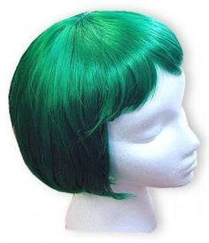 Colored Wigs - Emerald Green Wigs