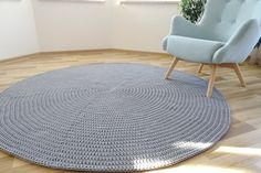Large Round Living Room rug, Round rug under round table, gray round rug, chunky round rug, Round Area rug, modern bedroom rug, scandinavian