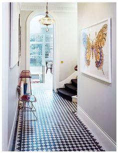 floors /// checkered tile + b&w