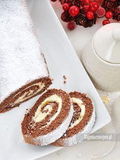 Rolada piernikowa Sweet Recipes, Cake Recipes, Snack Recipes, Dessert Recipes, Cooking Recipes, No Bake Desserts, Delicious Desserts, Yummy Food, Swans Down Cake Recipe