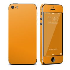 Orange is the new gold: http://www.istyles.com/skins/phones/apple-iphone/iphone-5s/solid-state-orange-iphone-5s-skin-p-177670.html