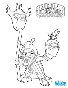 Skylanders Trap Team coloring pages - Chompy Mage