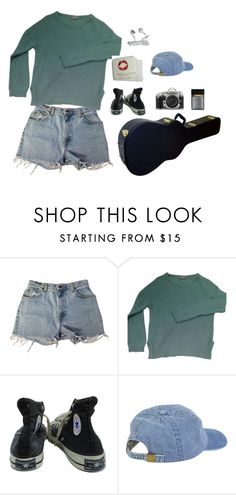 """grunge"" by michcouture on Polyvore featuring Levi's, American Vintage, Converse and Nikon"