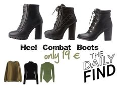 """""""Heel Combat Boots ONLY 19 EURO"""" by elaandco on Polyvore featuring moda, Charlotte Russe, Misha Nonoo e Topshop"""